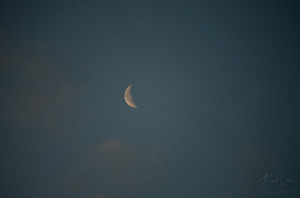 La Lune salue le Soleil levant. - Trois-Pistoles, 10 juillet 2015